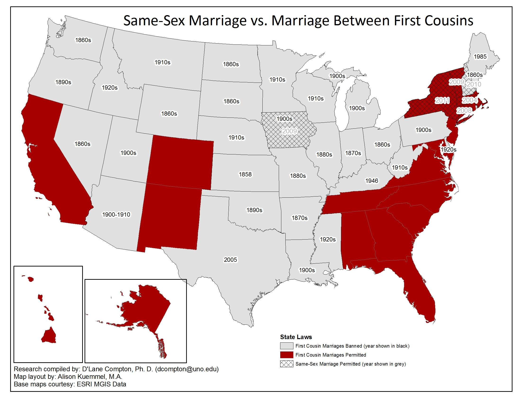 States that allow gay marriage map 2015