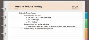 Immediate Anxiety Reduction
